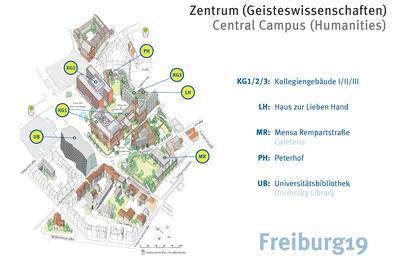Campusplan Freiburg